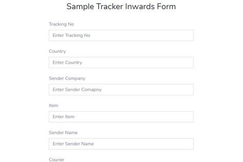 Sample Tracker Inwards Form - Sampling Module - ERP Module – Trading ERP - Enterprise Resource Planning System