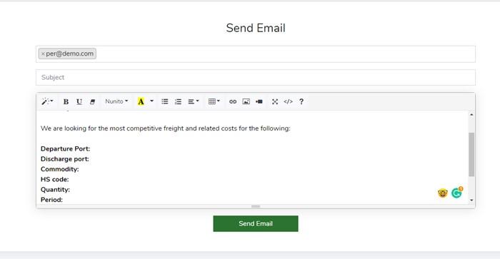 Send Bulk Email - Logistics Module – Trading ERP - Enterprise Resource Planning System